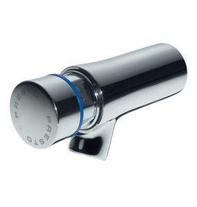 robinet pour lavabo / mural / en laiton chromé / temporisé