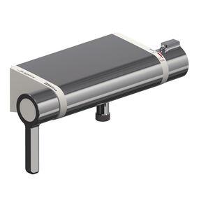 mélangeur pour douche / mural / en métal chromé / thermostatique