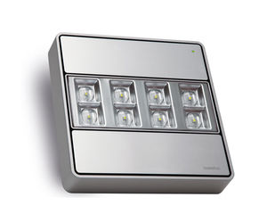 éclairage de secours en saillie / carré / à LED / en aluminium