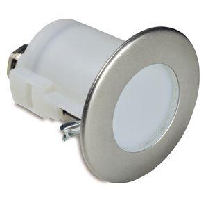 luminaire encastré / à LED / rond / en acier inoxydable