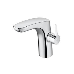 mitigeur pour vasque / sur plan / en métal chromé / 1 trou