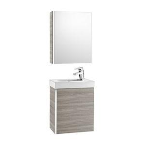 meuble vasque suspendu / en bois / contemporain / avec miroir
