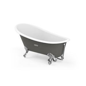baignoire sur pieds / ovale / en fonte