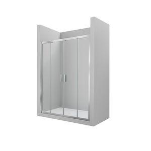 cabine de douche en verre / rectangulaire / avec porte coulissante