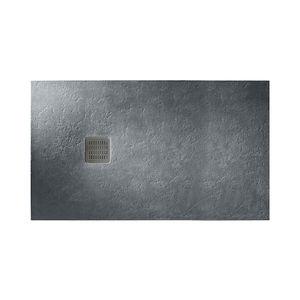 bac à douche rectangulaire / en pierre / avec canal d'écoulement / extra plat