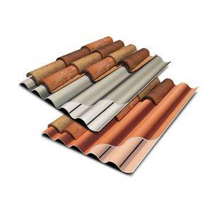 couverture en plaques en PVA / ondulée / colorée