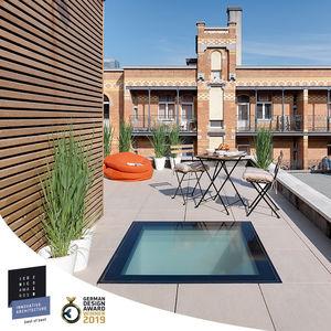 lanterneau pour toiture-terrasse / en PVC / en verre