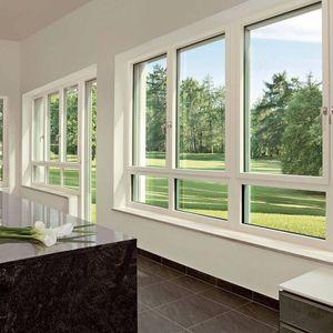 fenêtre oscillo-battante / en aluminium / en PVC / à triple vitrage