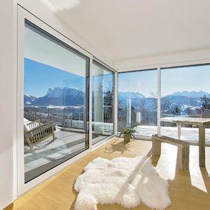 baie vitrée levante-coulissante / en aluminium / en PVC / à triple vitrage