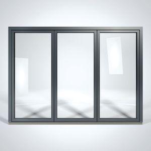 baie vitrée pliante / levante-coulissante / en aluminium / à triple vitrage