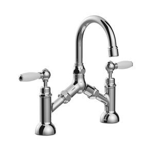 mélangeur pour vasque / à poser / en métal chromé / de salle de bain