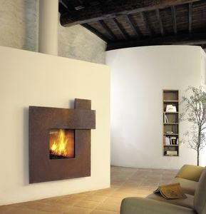 cheminée à bois / à gaz / design original / à foyer fermé