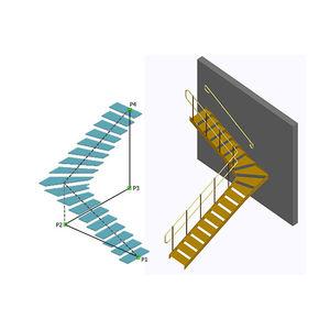 logiciel de conception / de modélisation / pour structure en acier / pour escalier