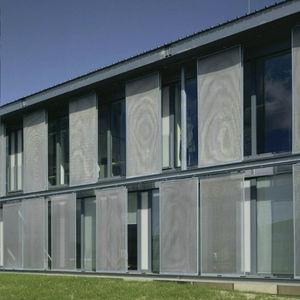 volets coulissants / en métal / pour façades / sur mesure