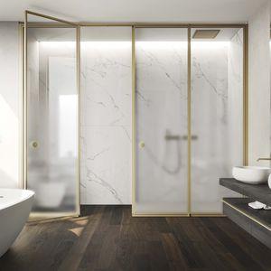 paroi de douche battante / en niche / en verre / résidentielle