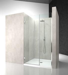 paroi de douche pivotante