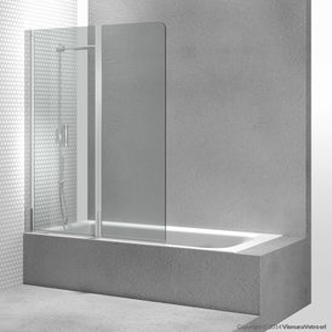 pare-baignoire pliant / en verre trempé