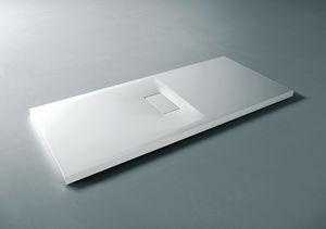 receveur de douche rectangulaire / à poser / en composite