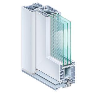 profilé pour porte en acier / en PVC / à isolation thermique