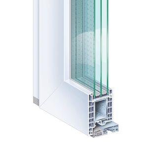 profilé pour porte en PVC / en acier / de sécurité / à coupure thermique