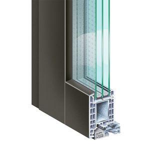 profilé pour porte en PVC / en aluminium / de sécurité / à coupure thermique