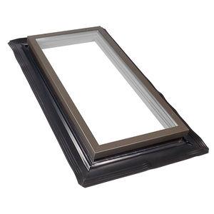fenêtre de toit fixe / en bois / en aluminium / à double vitrage