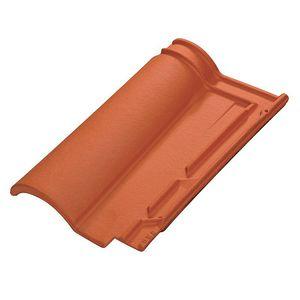 tuile canal / en terre cuite / rouge / marron