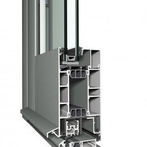 profilé pour porte en aluminium / de sécurité / à isolation thermique / à haute résistance