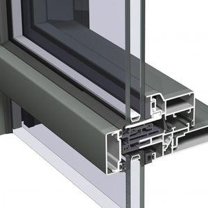 mur-rideau VEP / en aluminium et en verre