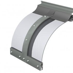 auvent d'entrée / en polycarbonate / en aluminium / cintré