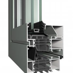 profilé pour fenêtre en aluminium / à isolation thermique / acoustique / antieffraction