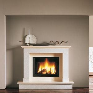 manteau de cheminée classique / en pierre