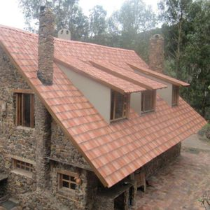couverture de toit en matières recyclées