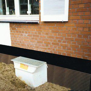 membrane d'étanchéité de protection / de drainage / pour fondation / pour murs enterrés
