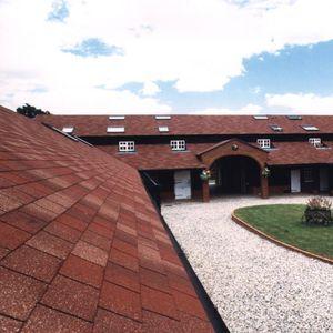 bardeau en asphalte / pour toiture / pour façade