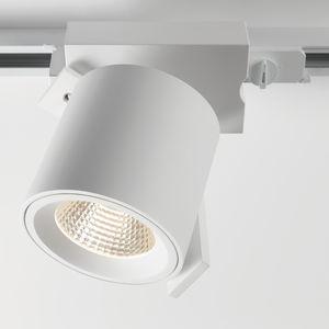 éclairage sur rail à LED / halogène / DHI / rond
