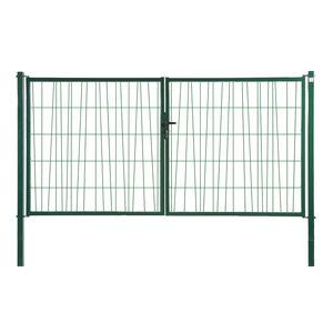 portails battants / en acier galvanisé / grillagés / résidentiels