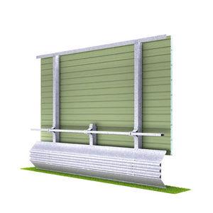 mur anti-bruit avec panneau modulaire / préfabriqué / autoportant / en acier galvanisé
