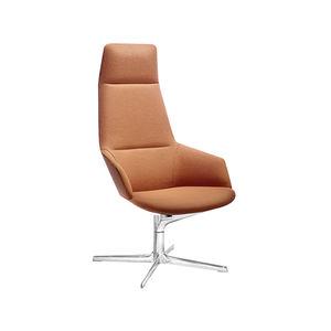 fauteuil contemporain / en tissu / en cuir / en aluminium