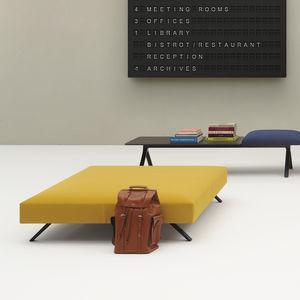ottoman contemporain / en tissu / carré / modulable