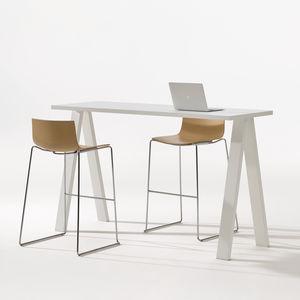 table mange-debout contemporaine / en stratifié / rectangulaire / professionnelle