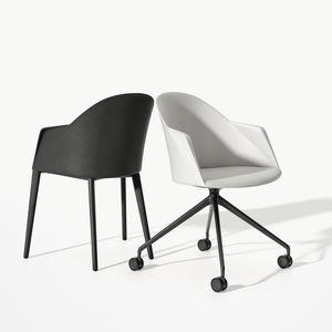 chaise visiteur luge / contemporaine / avec accoudoirs / tapissée