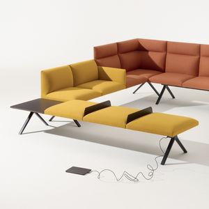 banquette modulable / contemporaine / en tissu / professionnelle