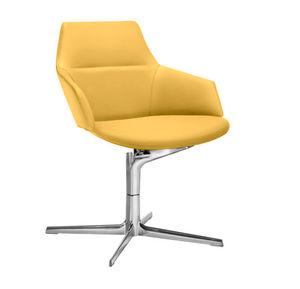 fauteuil visiteur contemporain / en tissu / en cuir / en aluminium