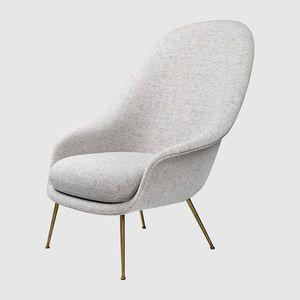 fauteuil classique / en tissu / avec accoudoirs / gris