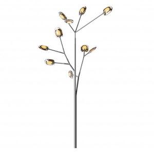 lampe sur pied / contemporaine / en acier inoxydable / en verre