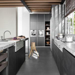 armoire de rangement pour cuisine contemporain / en Fenix NTM® / stratifié / en métal laqué