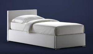 lit gigogne / simple / contemporain / avec tête de lit