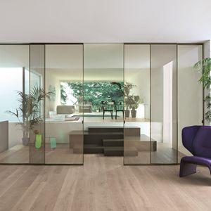 porte d'intérieure / coulissante / en verre / en aluminium