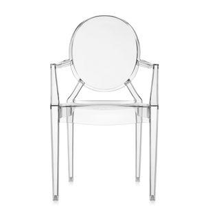 chaise contemporaine / avec accoudoirs / empilable / médaillon